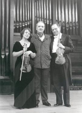Polina Kotliarskaya, Francisco Comesaña y Tomás Marco. Concierto El violín del siglo XX , 1999