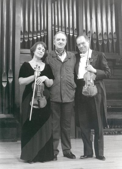 Polina Kotliarskaya, Francisco Comesaña y Tomás Marco. Concierto El violín del siglo XX