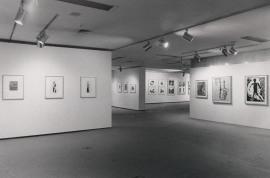 Vista parcial de la exposición Xilografía alemana del siglo XX, 1985