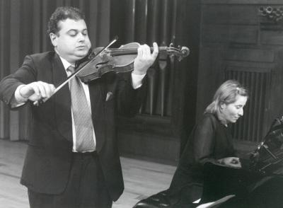 Manuel Guillén y Mª Jesús García. Concierto Nacionalismo musical del siglo XX