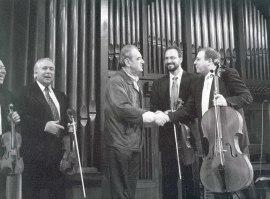 Tomás Marco y Cuarteto Arcana. Concierto Tres nuevos quintetos , 2000