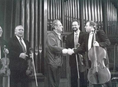 Tomás Marco y Cuarteto Arcana. Concierto Tres nuevos quintetos