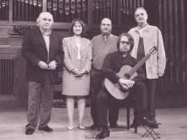 Antón García Abril, Zulema Cruz, Claudio Prieto, Tomás Marco y Gabriel Estarellas. Concierto La guitarra del siglo XX , 2000