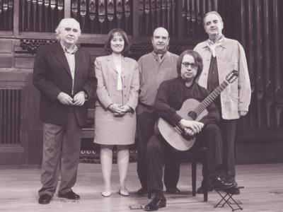 Antón García Abril, Zulema Cruz, Claudio Prieto, Tomás Marco y Gabriel Estarellas. Concierto La guitarra del siglo XX