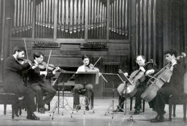 Adan Hunter y Cuarteto Rabel. Concierto Tres nuevos quintetos , 2000