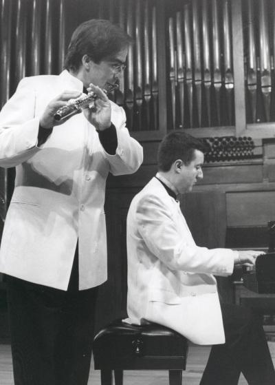 Antonio Arias Gago Gago y Gerardo López Laguna. Concierto Flauta romántica española