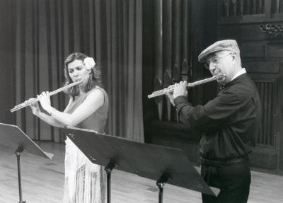 Juana Guillem y Manuel Guerrero Ruiz. Concierto Flauta romántica española