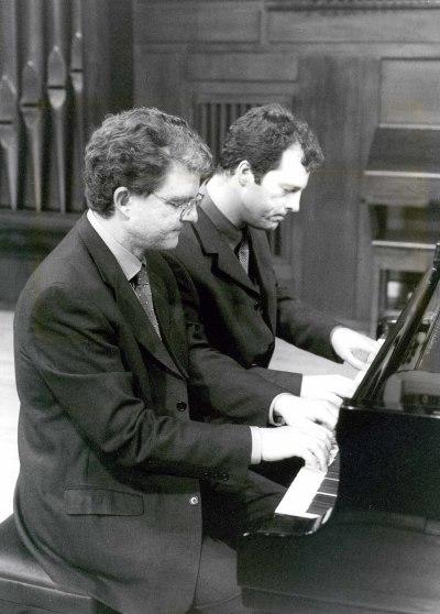 Ángel Gago Bádenas y José Gallego. Concierto El piano iberoamericano