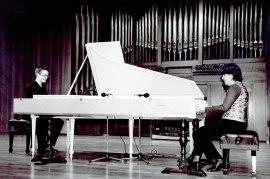 Dúo Xacara, Saskia Roures y Diego Fernández. Concierto El cuarteto iberoamericano , 2002