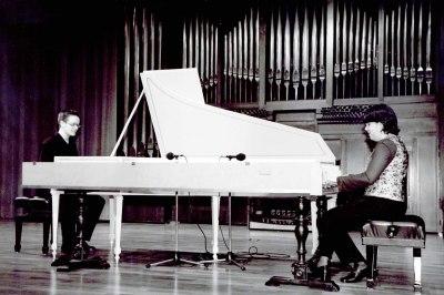Dúo Xacara, Saskia Roures y Diego Fernández. Concierto El cuarteto iberoamericano