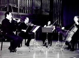 David Mata, Ángel Ruiz, Eva Martín y John Stokes. Concierto Britten: música de cámara y canciones , 2002
