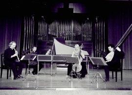 Jan Grimbergen, Toni Millán, Jesús Sánchez y Renée Bosch. Concierto Madrid, siglo XVIII. Músicos de la real capilla , 2002