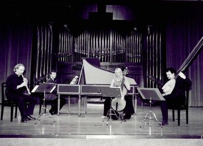 Jan Grimbergen, Toni Millán, Jesús Sánchez y Renée Bosch. Concierto Madrid, siglo XVIII. Músicos de la real capilla