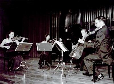 Ana Francisca Comesaña, Yulia Iglinova, Manuel Román, Ángel García Jerman y Kennedy Moretti. Concierto Schumann-Brahms: cuartetos y quintetos con piano