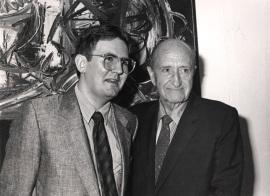 Juan Manuel Bonet y Amos Cahan. Exposición Arte español en Nueva York 1950-1970 Colección Amos Cahan, 1986