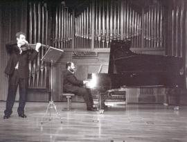 Alejandro Saiz San Emeterio y Ángel Chavaldas. Recital de violín y piano , 2002