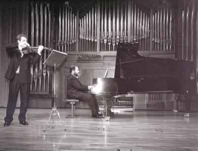 Alejandro Saiz San Emeterio y Ángel Chavaldas. Recital de violín y piano