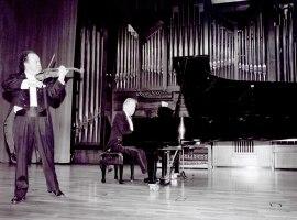 Joaquín Palomares y Michel Wagemans. Concierto El resurgir de la música inglesa , 2002