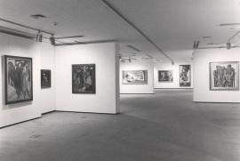 Vista parcial de la exposición De Marées a Picasso: Obras maestras del museo Wuppertal, 1986