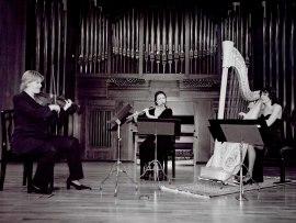 María Antonia Rodríguez, Julia Malkova y Michael Granados. Concierto El resurgir de la música inglesa , 2002