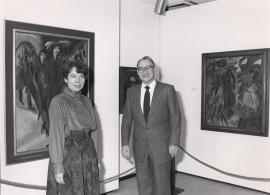 Sabine Fehlemann y Guido Brunner. Exposición De Marées a Picasso: Obras maestras del museo Wuppertal, 1986