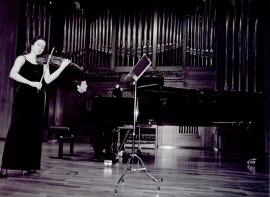 Esther Rubio y Juan Ignacio Fernández Morales. Recital de violín y piano , 2003