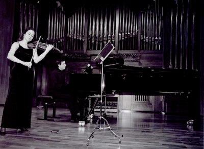 Esther Rubio y Juan Ignacio Fernández Morales. Recital de violín y piano