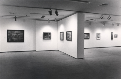 Vista parcial de la exposición Ben Nicholson