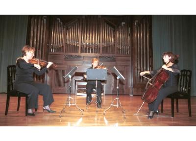 Carmen Tricás, Mª Teresa Gómez, Mª Luisa Parrilla y Trío de Arco Adagio. Concierto Beethoven: tríos para cuerda