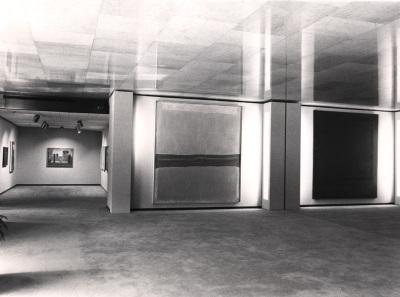 Vista parcial de la exposición Mark Rothko