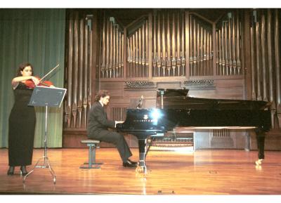Beatriz Andradas y Eduardo Fernández García García. Recital de viola y piano