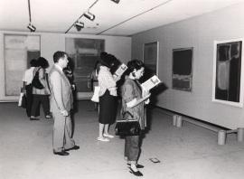 Vista parcial de la exposición Mark Rothko, 1987