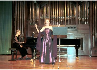 Blanca Ortiz y Laurence Verna. Recital de canto y piano