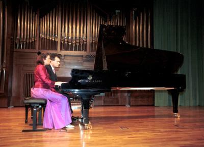 Belén González Domonte y Marc Antoni Mas. Recital de piano a 4 manos