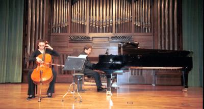 Irina Comesaña y Duncan Gifford. Concierto Tribuna de jóvenes intérpretes: I. El violonchelo