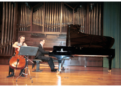 María Cabezón y Ulrich Hofmann. Concierto Tribuna de jóvenes intérpretes: I. El violonchelo