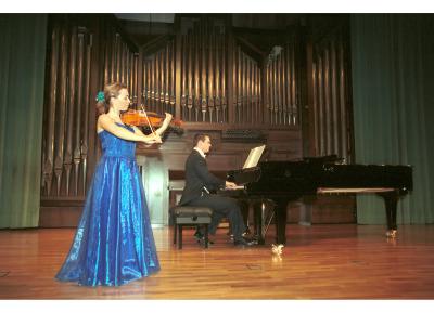 Naiara Castillejo y Jerome Thiebaut. Recital de violín y piano