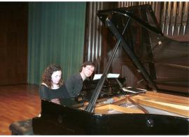 Nexus Piano Duo, Mireia Fornells Roselló y Joan Miquel Hernández Sagrera. Recital de piano a cuatro manos , 2004