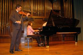 Juan Antonio Mira y Cristina Ferriz. Recital de violín y piano , 2004