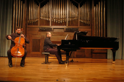 Antonio Martín Acevedo y Miguel Ángel Ortega Chavaldas. Recital de violonchelo y piano