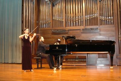 Miguel Ángel Ortega Chavaldas y Carmen Antequera. Recital de violín y piano
