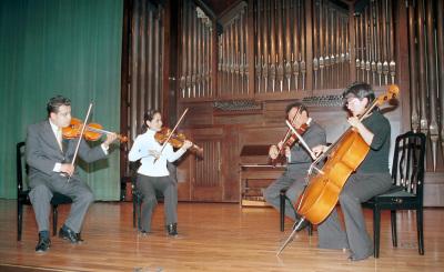 Eric Sánchez González, Mariana Valencia González, Miguel Alcántara Ortigoza, Luz Águila y Cuarteto Arcano. Recital de música de cámara