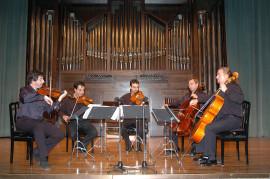 Antonio Cárdenas, John Stokes, Víctor Ambroa, Iván Martín y Jorge Pozas. Concierto Ars Gallica: un siglo de música de cámara francesa , 2004