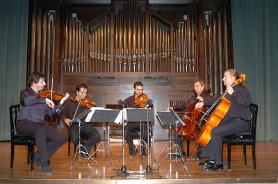 Antonio Cárdenas, John Stokes, Víctor Ambroa, Iván Martín y Jorge Pozas. Concierto Ars Gallica: un siglo de música de cámara francesa