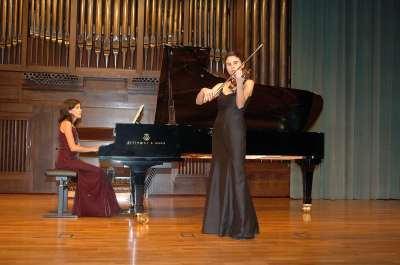 Mª Luz Rivera y Raquel Rivera. Recital de violín y piano