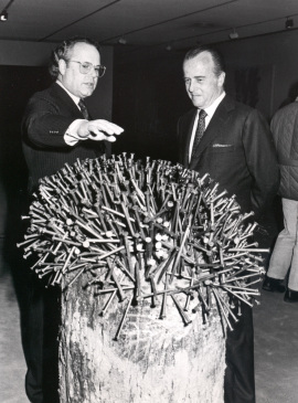 Jaime Urquijo y Gerhard Lenz. Exposición Zero, un movimiento europeo Colección Lenz Schönberg, 1988