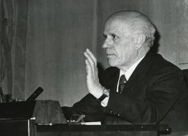 Juan Rof Carballo. Conferencia sobre Metaciencia y psicoanálisis dentro del ciclo Las fronteras vivas del psicoanálisis , 1975