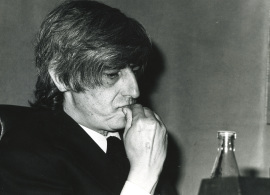 Juan Benet en el ciclo Novela Española Contemporánea, 1975
