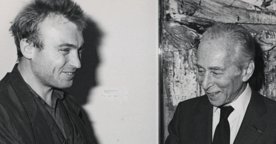 Miquel Barceló y Leo Castelli. Exposición Colección Leo Castelli