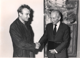 Miquel Barceló y Leo Castelli. Exposición Colección Leo Castelli, 1988